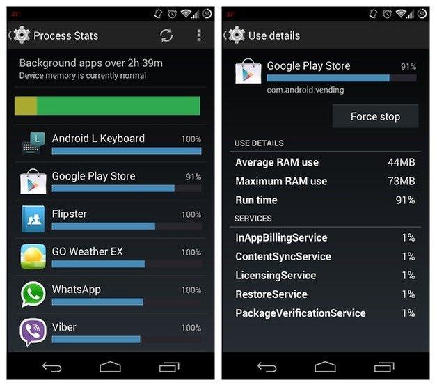 AndroidPIT process stats gps