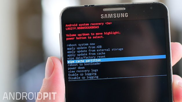AndroidPIT samsung galaxy note 3 wipe cache partition