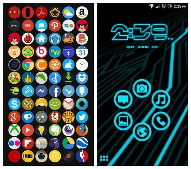 AndroidPIT0Coconut Legacy Neon Themes
