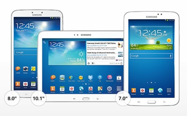 T mobile galaxy tab 3 finally gets android 4 4 4 kitkat for Table th size