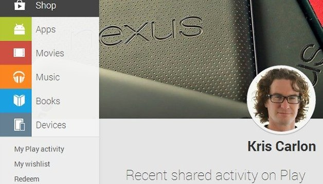 Google adds your activity summary to the web-based Play Store