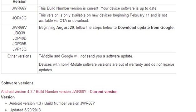 Nexus 4 update for T-Mobile with Better Security