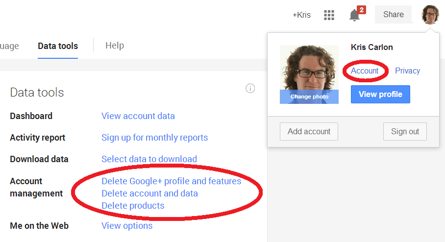 How to delete your google profile picture
