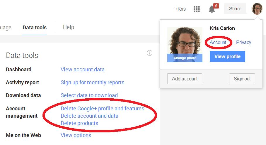 delete profile photo gmail