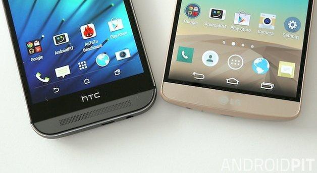 LG G3 HTC One M8 bezel