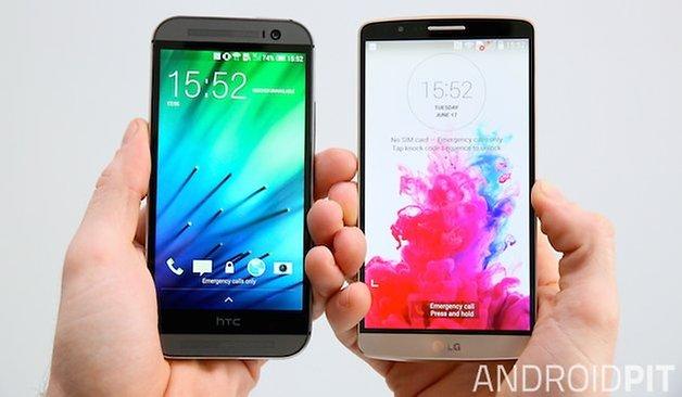LG G3 HTC One M8 display