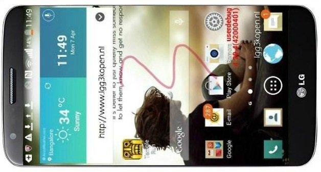 LG G3 mockup side
