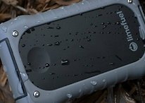 Waterproof USB external battery pack: 15000 mAh for power all week!