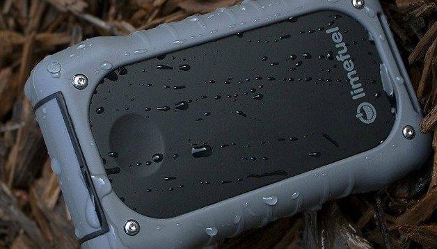 Waterproof USB external battery pack: 15000 mAh for power all week!