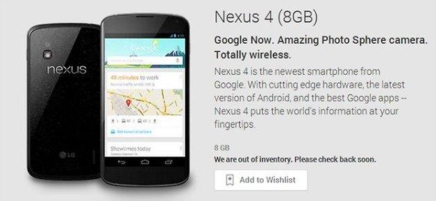 Nexus4SoldOut