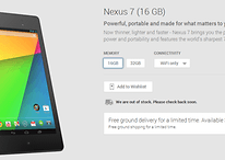 Free Nexus 7 shipping in Google Play, plus better spec choice options