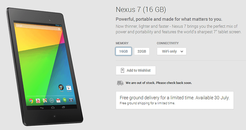 Nexus7PlayStoreOptions
