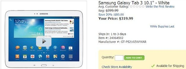 OfficeMax Galaxy Tab3 Discount