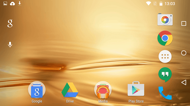 AndroidPIT Android M preview 2 rotated home screen