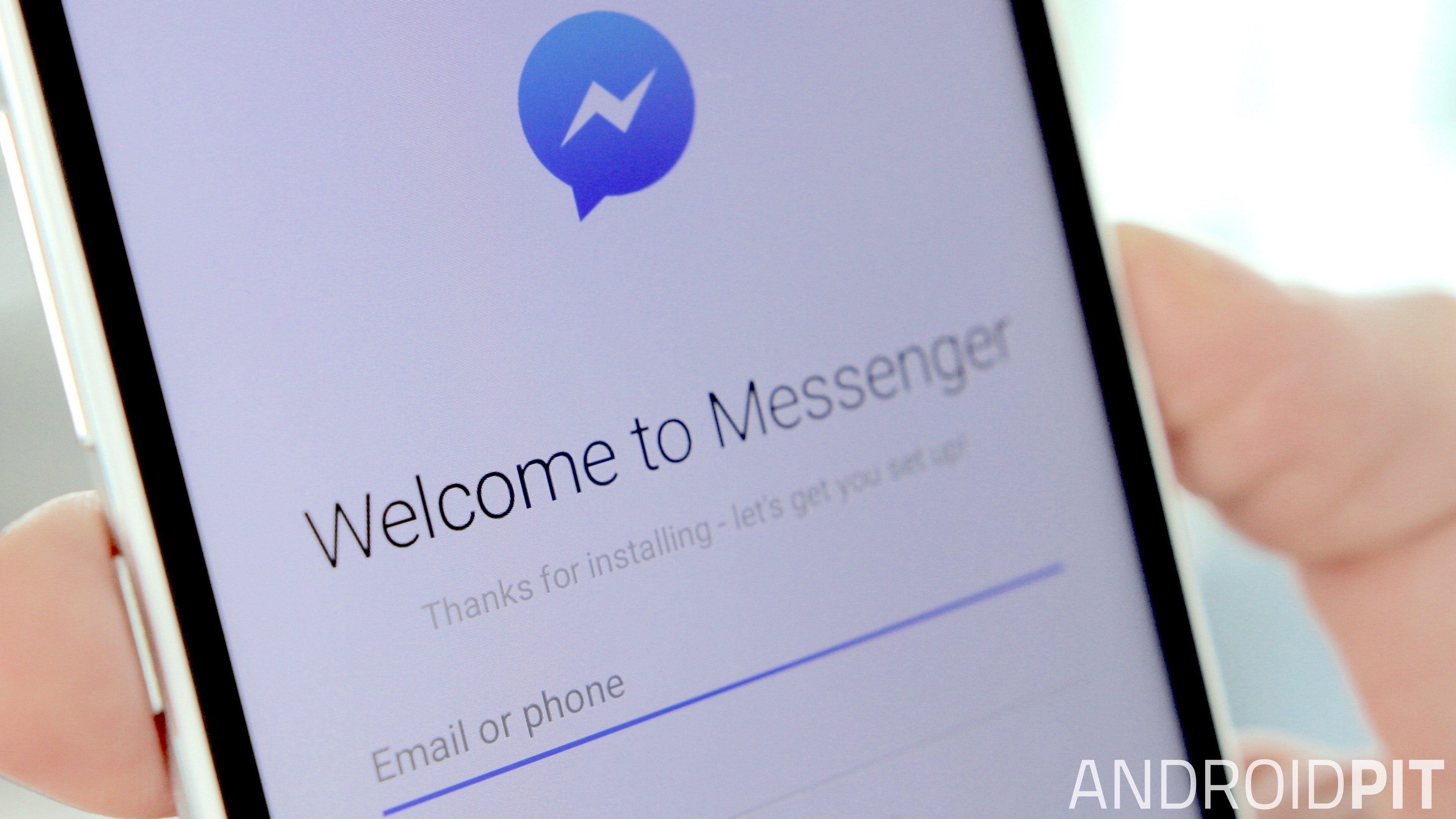 Facebook messenger login with phone number