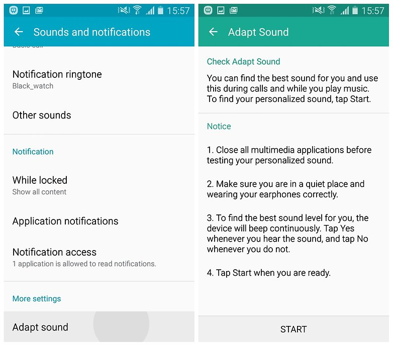 AndroidPIT Galaxy S4 Lollipop adapt sound