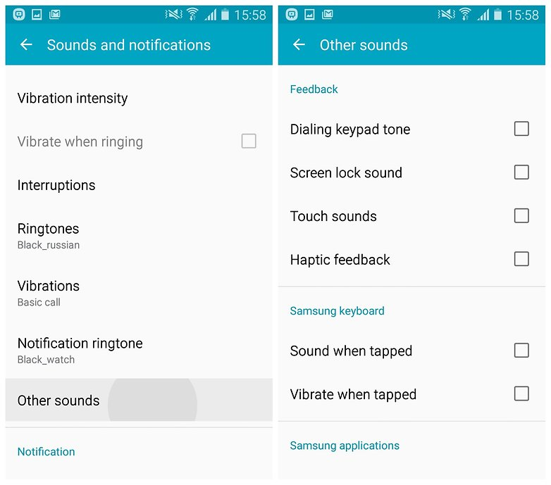 AndroidPIT Galaxy S4 Lollipop turn off samsung sounds