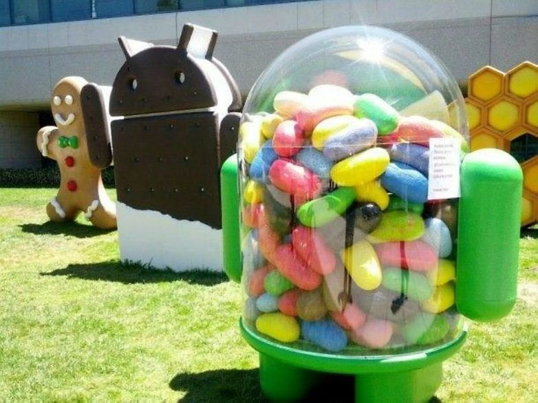 AndroidPIT Google lawn scultpures jelly bean