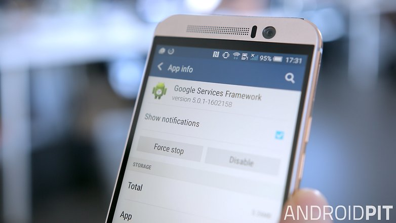 AndroidPIT HTC One M9 google services framework