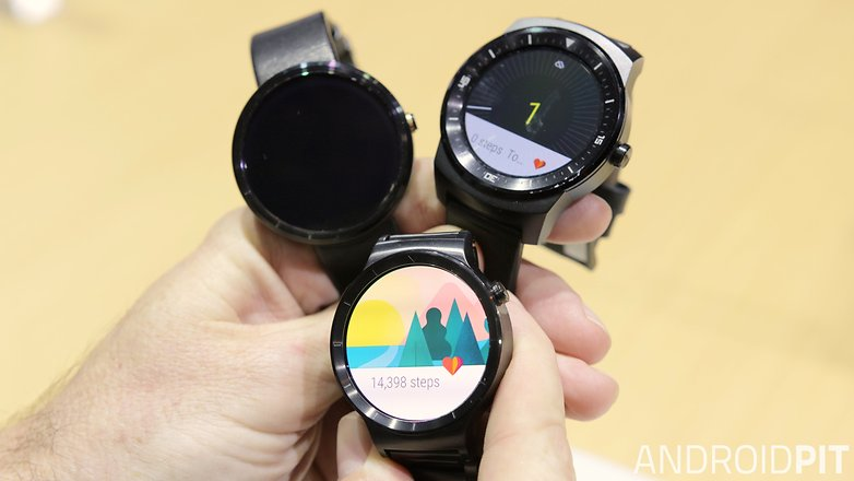 AndroidPIT Huawei Watch LG G Watch R Moto 360 size comparison