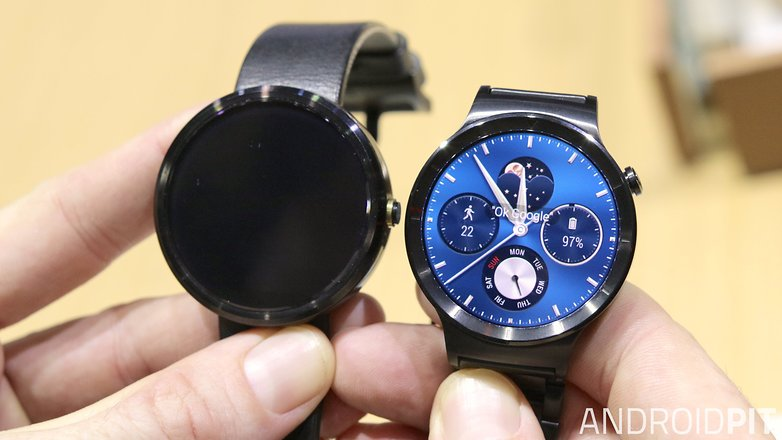 AndroidPIT Huawei Watch Moto 360 size comparison