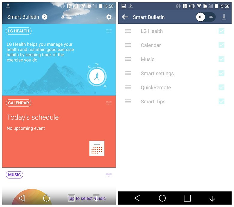 AndroidPIT LG G4 Lollipop Smart bulletin off