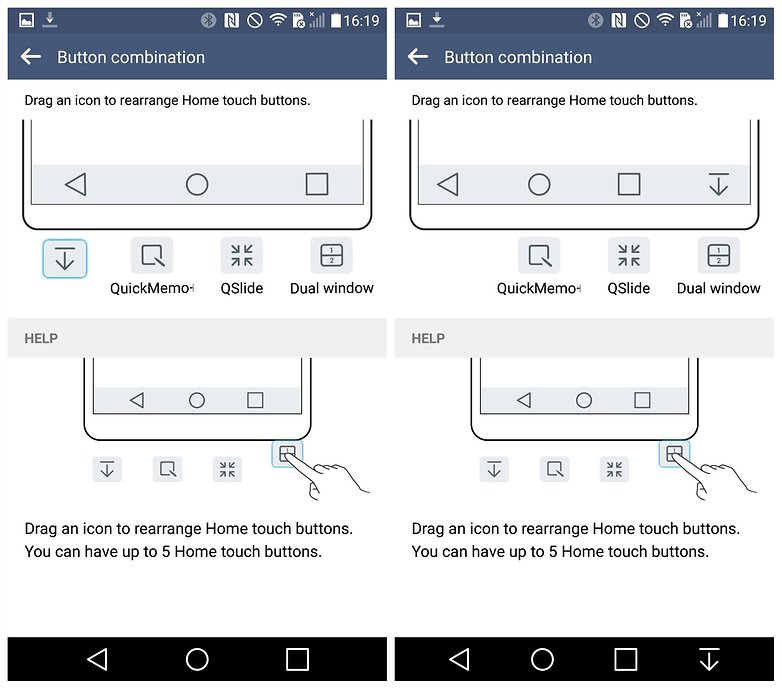 AndroidPIT LG G4 Lollipop edit navigation buttons