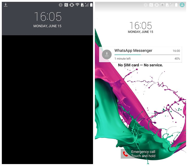 AndroidPIT LG G4 Lollipop glance view lock screen
