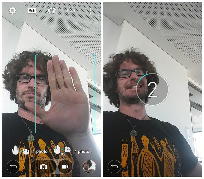 AndroidPIT LG G4 Lollipop selfie gesture