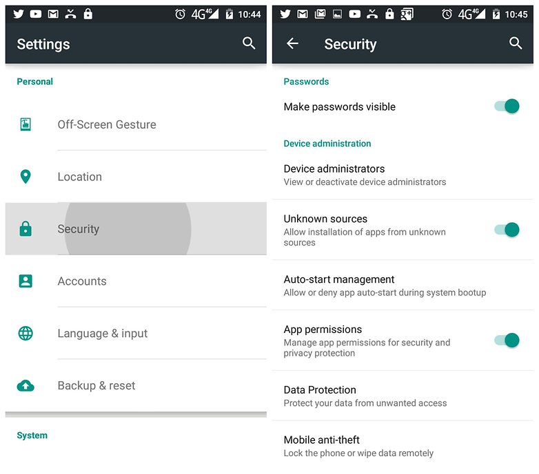 AndroidPIT Lollipop Settings Security Unknown Sources
