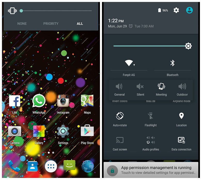 AndroidPIT Mlais M7 home screen notifications