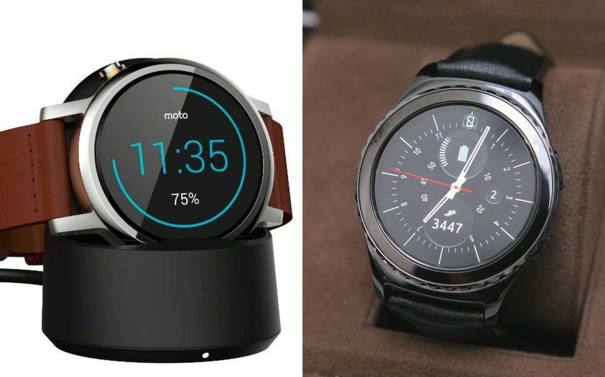 Motorola Moto 360 2015 Vs Samsung Gear S2 Comparison