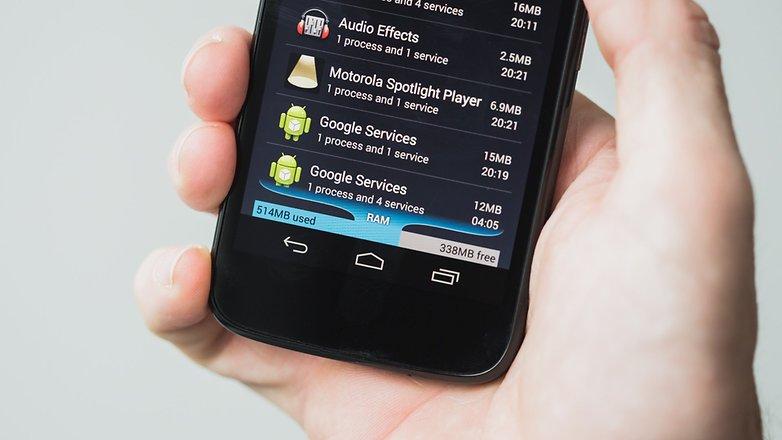 AndroidPIT Moto G 2013 RAM usage