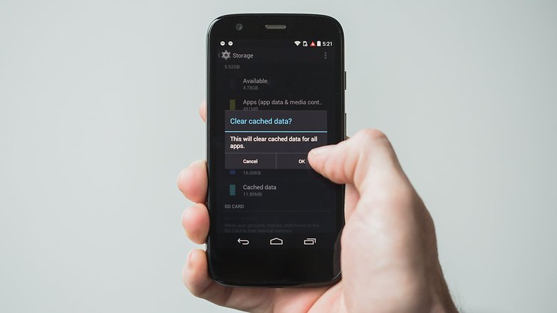 AndroidPIT Moto G 2013 clear all cached data