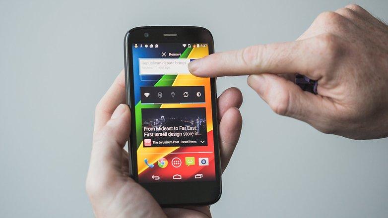 AndroidPIT Moto G 2013 remove widget1