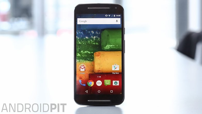 AndroidPIT Moto G 2014 Lollipop display