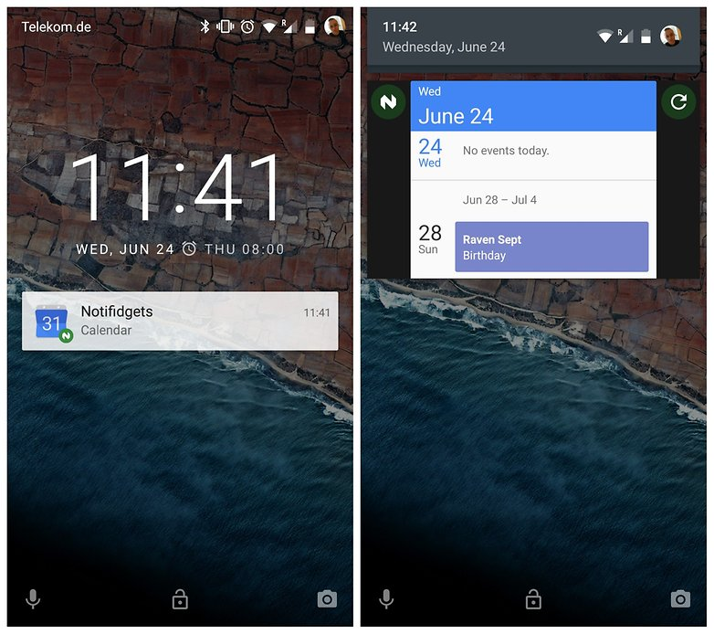 AndroidPIT Nexu 5 Lollipop lock screen widget notifidgets notification lock screen