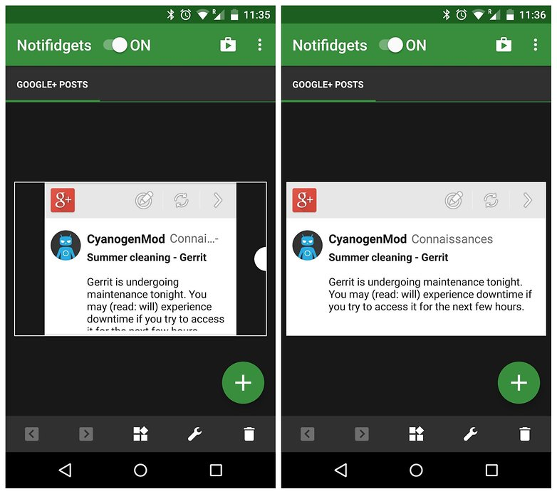 AndroidPIT Nexu 5 Lollipop lock screen widget notifidgets resize