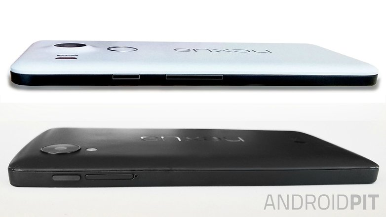 AndroidPIT Nexus 5 2015 side view comparison