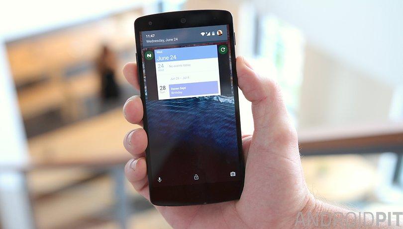 Is your Nexus 5 running Android Lollipop? Here's how to get lock screen widgets