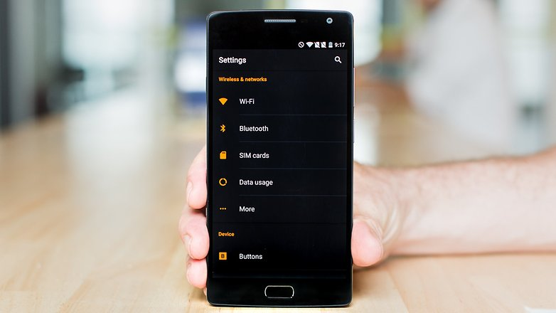 AndroidPIT OnePlus 2 dark theme settings