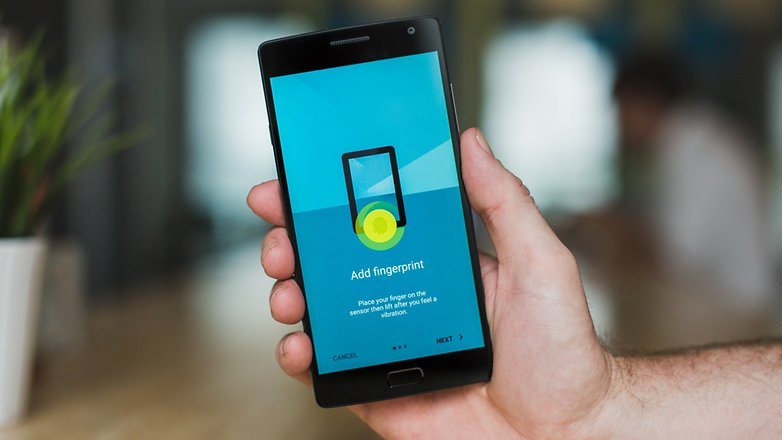 AndroidPIT OnePlus 2 register fingerprint