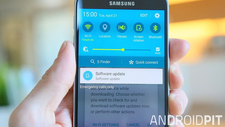 AndroidPIT Samsung Galaxy S6 galaxy s6 software update notification