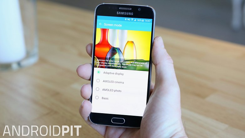 AndroidPIT Samsung Galaxy S6 screen mode