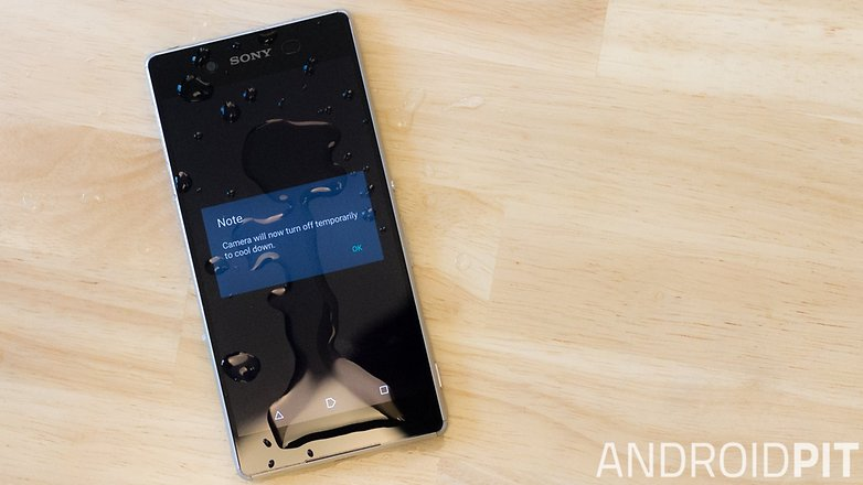 AndroidPIT Sony Xperia Z3 plus camera crash bug