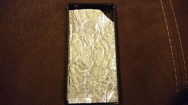 AndroidPIT Sony Xperia Z3 plus foil fix