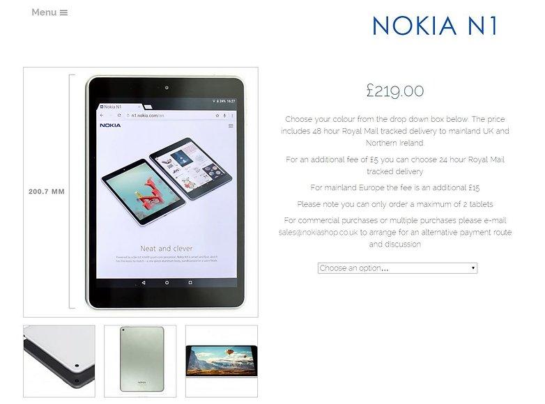 AndroidPIT fake Nokia store UK Nokia N1