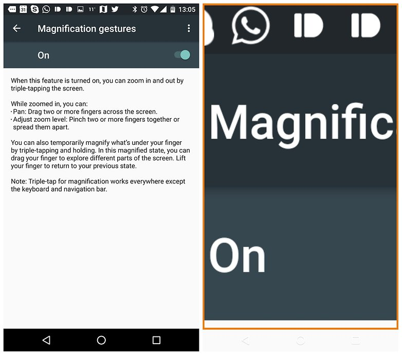 AndroidPIT Android 6 0 Marshmallow accessibility magnification gestures