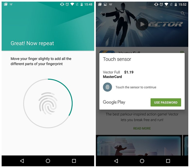 AndroidPIT Android Marshmallow fingerprint authentication