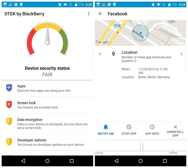 AndroidPIT BlackBerry Priv lock DTEK